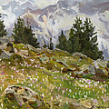 Spring On A Northern Slope by Victoria Kharchenko