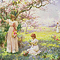 Spring   Picking Flowers by Alfred Augustus I Glendenning
