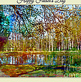 Spring Pond Photoart Father's Day by Debbie Portwood