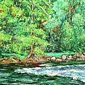 Spring Rapids On The New River by Kendall Kessler