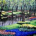 Spring Spendor Tulip Garden by Patricia L Davidson