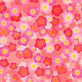 Spring Time Cherry Blossom Seamless Tile Background by Jit Lim
