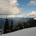 Spring Time Skiing At Crystal by Kym Backland