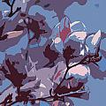 Spring Tulip Tree Abstract by Janet Maloy