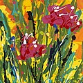Spring Tulips Triptych Panel 3 by Nadine Rippelmeyer