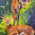 Spring Twins 1 by Susan A Becker