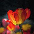 Springtime Tulips Digital Painting by Linda Matlow