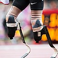 Sprinter At Start Of Paralympics 100m by Science Photo Library