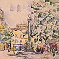 Square Of The Hotel De Ville by Paul Signac
