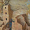 Square Tower House Closeup On Chapin Mesa Top Loop Road In Mesa Verde National Park-colorado by Ruth Hager