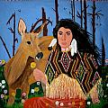 Squaw With Deer by Linda Egland