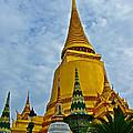 Sri Lanka Pagoda At Grand Palace Of Thailand In Bangkok by Ruth Hager