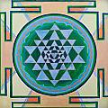 Sri Yantra For Meditation Painted by Raimond Klavins