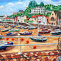 St Aubin's Harbour - Jersey by Ronald Haber