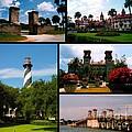 St Augustine In Florida - 2 Collage by Susanne Van Hulst