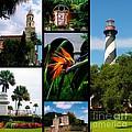 St Augustine In Florida - 3 Collage by Susanne Van Hulst