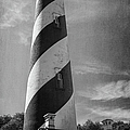 St Augustine Lighthouse Bw by Joan Carroll