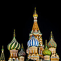 St. Basil's Cathedral At Night by Madeline Ellis