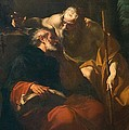 St. Benedict And A Hermit by Domenico Maria Viani