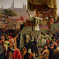 St Bernard Preaching The Second Crusade In Vezelay by Emile Signol