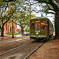 St. Charles Ave. Streetcar In New Orleans by Kathleen K Parker