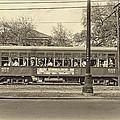 St. Charles Ave. Streetcar Sepia by Steve Harrington