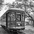 St. Charles Streetcar 2 Bw by Steve Harrington