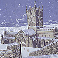 St David S Cathedral In The Snow by Huw S Parsons