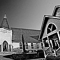 St. Francis - Abstract Bw by Michael Thomas
