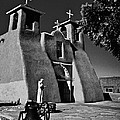 St Francis In Black And White by Charles Muhle