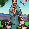 St. Francis Libertys Blessing by Victoria De Almeida