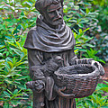 St Francis Of Assisi Garden Statute by Ginger Wakem
