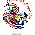 St. George Day Celebration Proud To Be English Retro Poster by Aloysius Patrimonio
