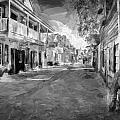 St George Street St Augustine Florida Painted Bw by Rich Franco
