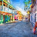 St George Street St Augustine Florida Painted by Rich Franco