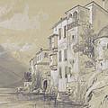 St Giulio Orta by Edward Lear