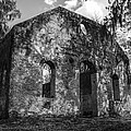 St Helena Chapel Of Ease  Bw 3 by Steven  Taylor