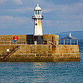 St Ives And Godrevy Lighthouses Cornwall by Terri Waters