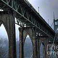 St Johns Bridge Oregon by Bob Christopher
