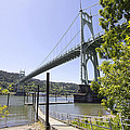 St Johns Bridge Over Willamette River by Jit Lim
