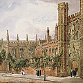 St. Johns College, Cambridge, 1843 by Joseph Murray Ince