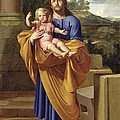 St. Joseph Carrying The Infant Jesus by Pierre  Letellier