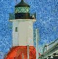 St. Joseph Lighthouse Lake Michigan by Dan Sproul