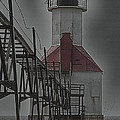 St. Joseph North Pier Lighthouse Lake Michigan by Jack R Perry