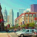 St Lawrence Market At Lower Jarvis Flatiron Building Downtown Toronto Skyline City Scenes C Spandau by Carole Spandau