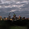 St. Louis Arch At Dusk From The Train by Susan Wyman