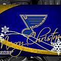 St Louis Blues Christmas by Joe Hamilton