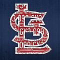 St. Louis Cardinals Baseball Vintage Logo License Plate Art by Design Turnpike