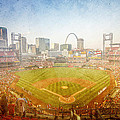 St. Louis Cardinals Busch Stadium Texture 2 by David Haskett II