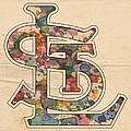 St Louis Cardinals Logo Vintage by Florian Rodarte